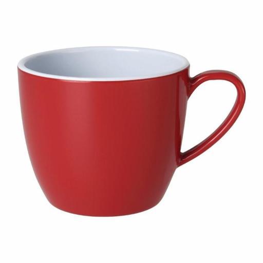 Juego de 6 tazas de melamina color rojo 285ml Gala Kristallon Olympia DE604