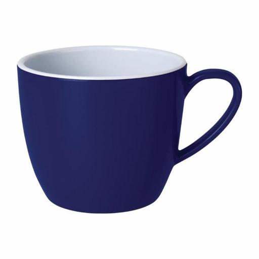 Juego de 6 tazas de melamina color azul 285ml Gala Kristallon Olympia DE609
