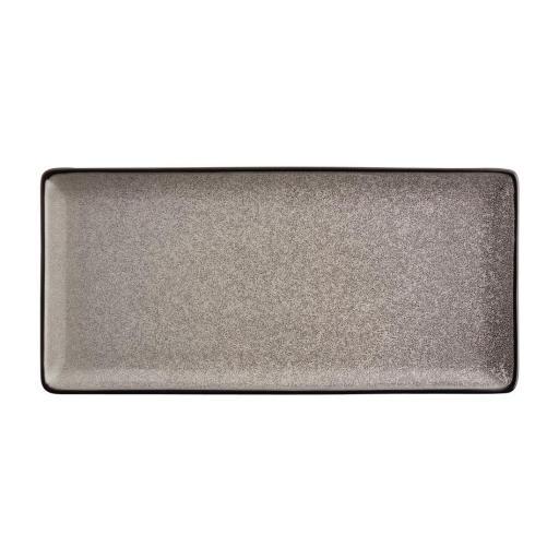 Juego de 4 platos rectangulares 335x160mm Olympia Mineral DF175