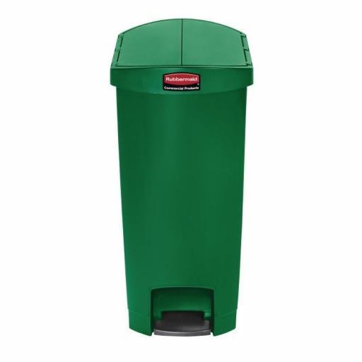 Cubo de basura de polipropileno de pedal 50L. Rubbermaid Slim Jim
