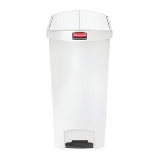 Cubo de basura de polipropileno de pedal 90L. Rubbermaid Slim Jim [3]