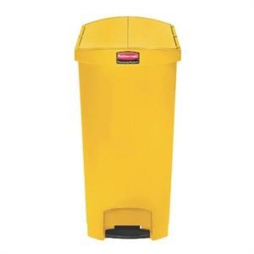 Cubo de basura de polipropileno de pedal 90L. Rubbermaid Slim Jim
