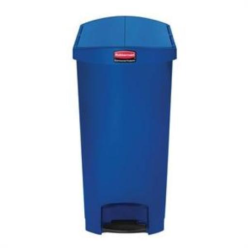 Cubo de basura de polipropileno de pedal 90L. Rubbermaid Slim Jim [1]
