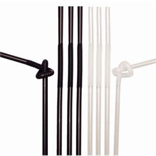Canutillos Extraflex surtidos blancos y negros Kristallon (Caja de 100) DL100
