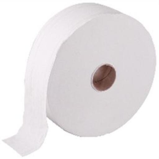 Papel higiénico Jumbo 300m. doble capa Jantex (Paquete de 6 rollos) DL919