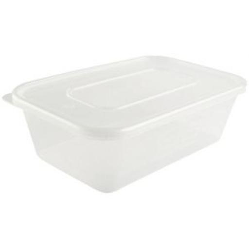 Contenedor de plástico con tapa para microondas (Caja de 250 ud.) [2]