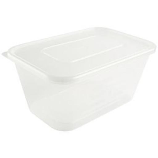 Contenedor de plástico con tapa para microondas (Caja de 250 ud.) [3]