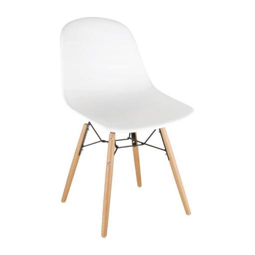 Juego de 2 sillas de diseño para hostelería Bolero color Blanco DM840