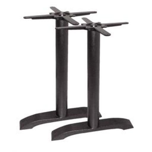 Juego de 2 pies de mesa de hierro fundido Bolero DN642