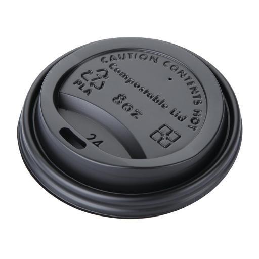 Caja de 50 tapas compostables para vasos de 225ml Fiesta Green DS054