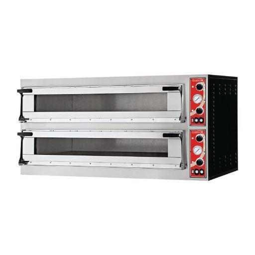 Horno eléctrico 6+6 pizzas 2 cámaras Gastro M Modelo Nápoles DS183