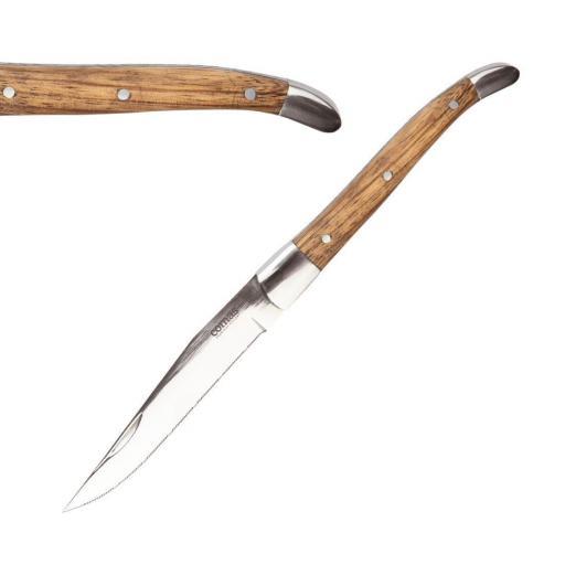 Juego de 6 cuchillos chuleteros con mango de madera Nicolas Comas DY409