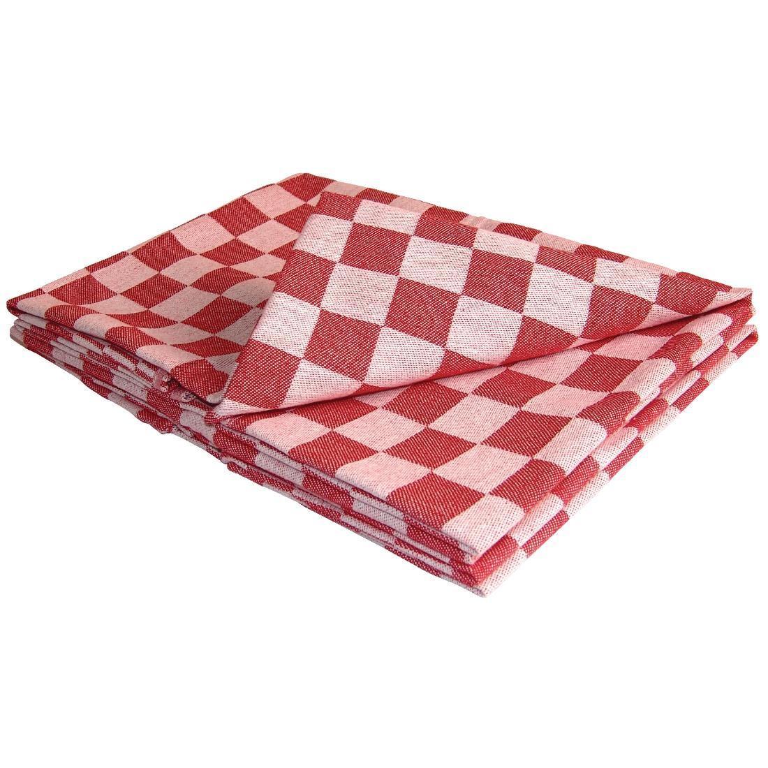 Trapo de cocina a cuadros rojo Chef Vogue E579