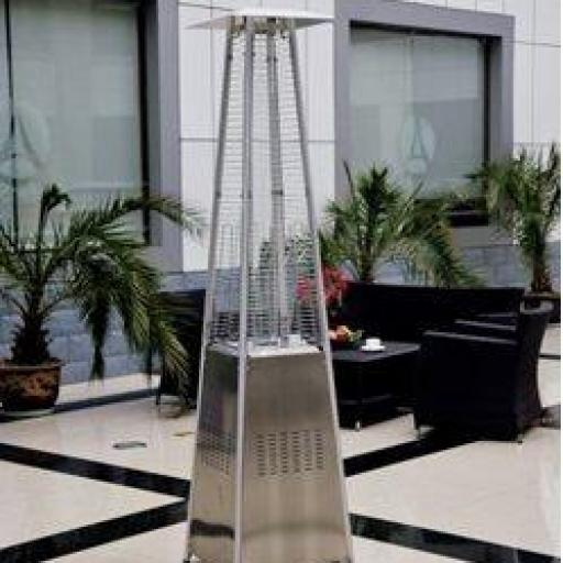 Estufa para exterior a gas diseño pirámide acero inoxidable Hobeto 122975