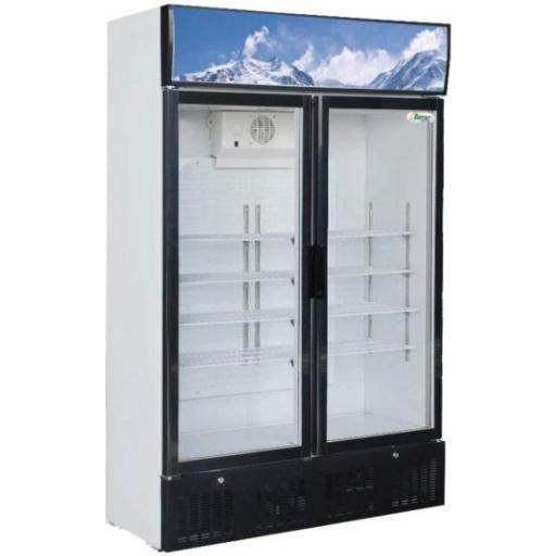 Expositor frigorífico de 2 puertas pivotantes 620L. Forcar G-Snack638L2TNG