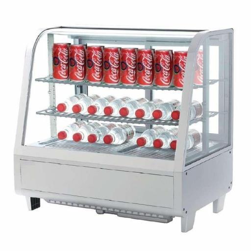 Expositor refrigerado 4 caras 100 litros blanco Pekin XCW-100L-B