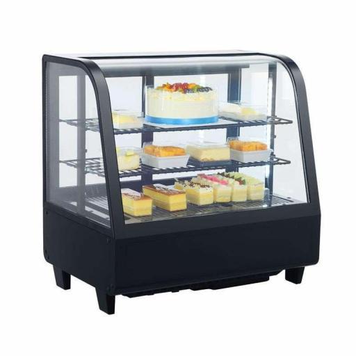 Expositor refrigerado 4 caras 100 litros Negro Pekin XCW-100L-N
