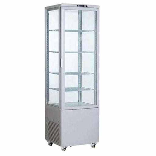 Expositor refrigerado 4 caras 238 litros blanco Pekin XC238L-B