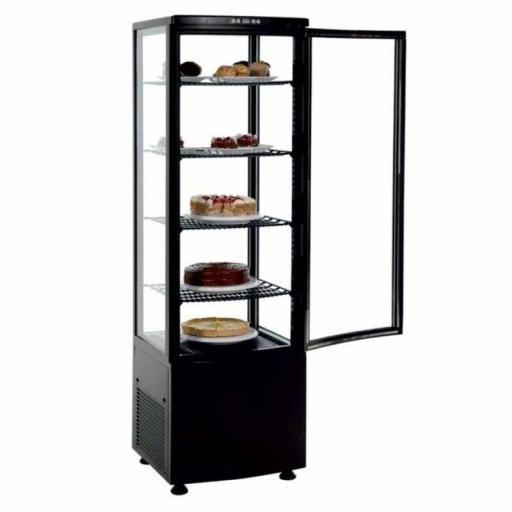 Expositor refrigerado 4 caras 238 litros negro Pekin XC238L-N
