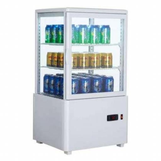Expositor refrigerado blanco 4 caras de cristal 58L Pekin XC58L-B