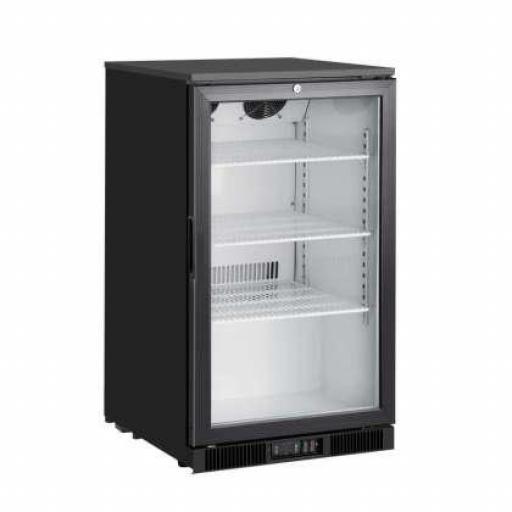 Expositor de congelación de sobremesa con puerta de cristal 150L. y 3 estantes Línea Pekín FT150F