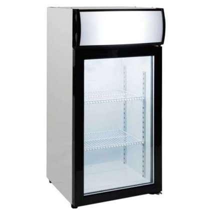 Expositor de congelación de sobremesa de puerta de cristal 80L. Línea Pekín FT80L