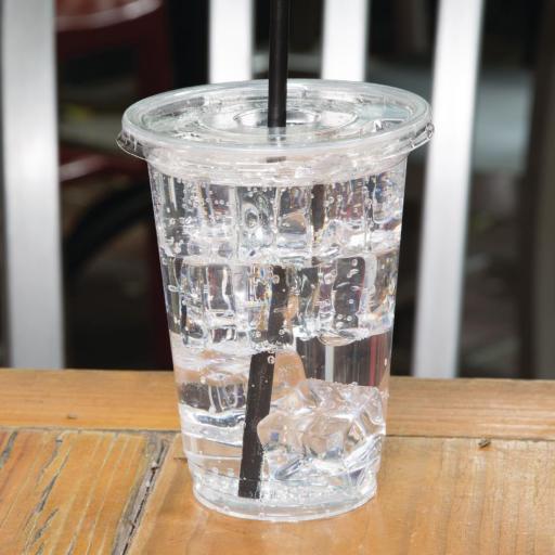 Caja de 1.000 vasos compostables PLA para bebidas frías 454ml Fiesta Green FA343