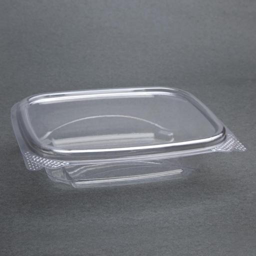 Caja de 200 envases compostables PLA 227ml. con tapa abatible Deli Fiesta Green FA550