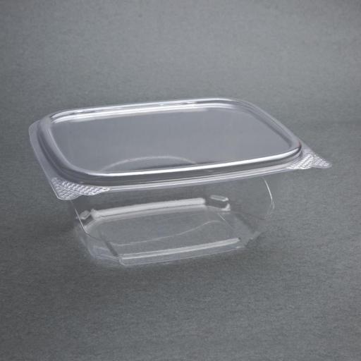 Caja de 200 envases compostables PLA 454ml. con tapa abatible Deli Fiesta Green FA552