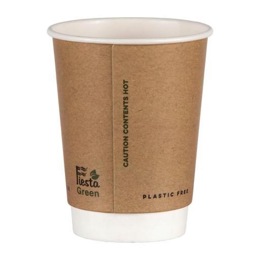Caja de 500 vasos compostables desechables sin plástico Fiesta Green 340ml. FB953