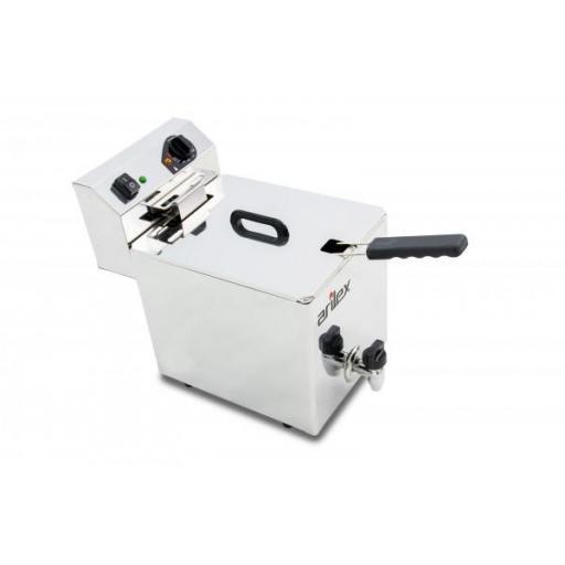 Freidora eléctrica de 10 litros con grifo de vaciado Arilex Evolution EVO10G