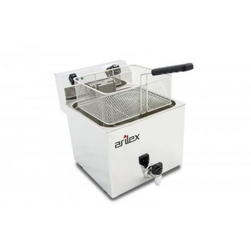 Freidora eléctrica de 12 litros con grifo de vaciado Arilex Evolution EVO12G