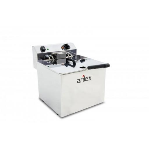 Freidora eléctrica de 12 litros 7,5kW Trifásica con contactor Arilex Evolution EVO12TR