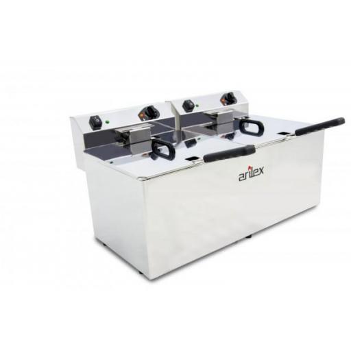 Freidora eléctrica doble de 12+12 litros Arilex Evolution EVO1212