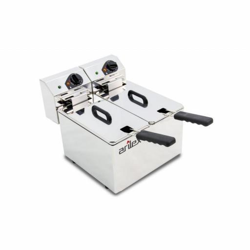 Freidora eléctrica doble de 5+5 litros Arilex Evolution EVO55