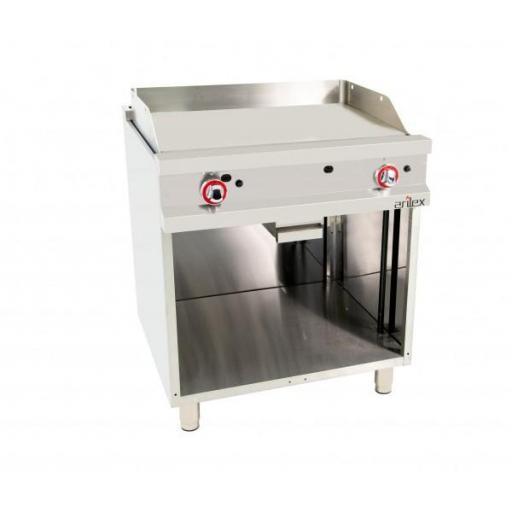 Frytop a gas con plancha de acero rectificado FOndo de 70cm 11,4kW Serie Easy Línea 700 80FRYGR70