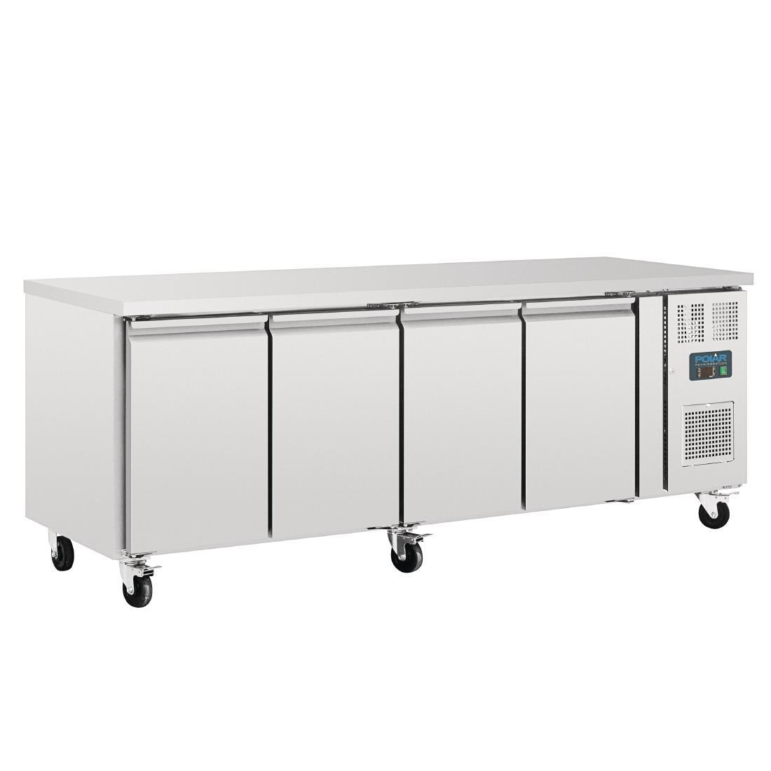 Mostrador frigorífico 4 puertas 553L. 700mm de fondo Polar G598