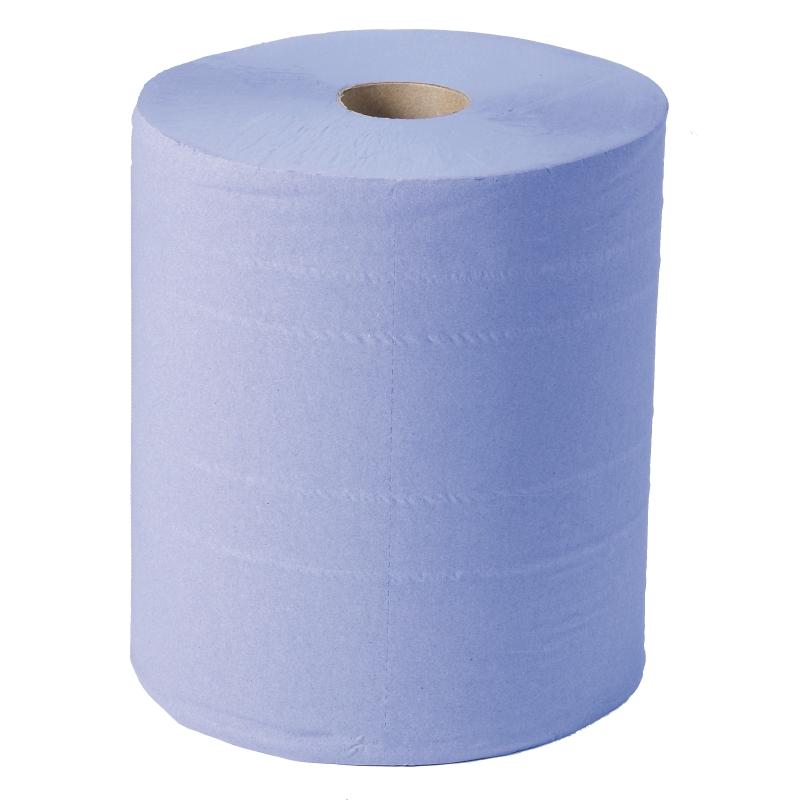 Juego de 2 rollos de toallas de papel azul 2 capas y pre corte Jantex GD301