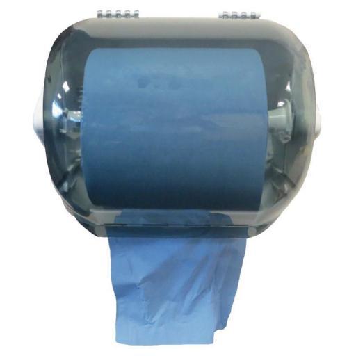 Juego de 2 rollos de toallas de papel azul 2 capas y pre corte Jantex GD301 [1]