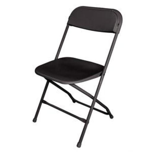Juego de 10 sillas plegables polipropileno negras (paquete de 10) GD386