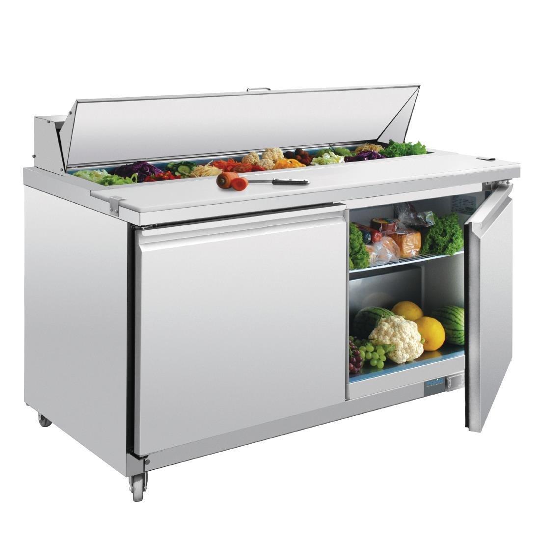 Mostrador frigorífico de preparación 2 puertas 527 litros Polar GD883