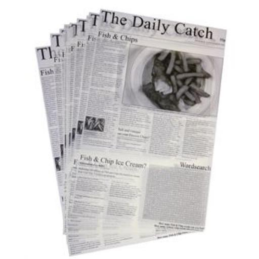 Láminas de papel antigrasa diseño prensa (Caja de 500) GF036