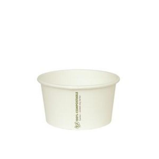 Contenedor biodegradable para alimentos fríos o calientes (Caja de 500) Vegware [1]