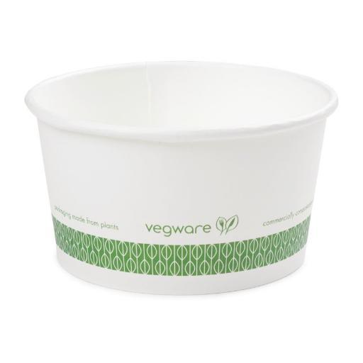 Caja de 500 cuencos biodegradables y compostables 340 ml. Vegware GF046