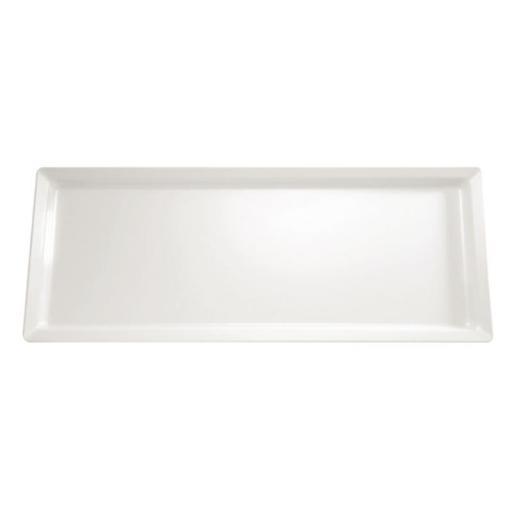 Bandeja de melanina blanca rectangular gran tamaño Pure APS GF130