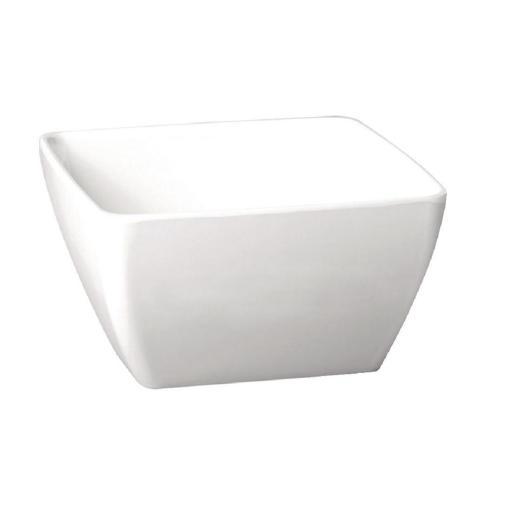 Cuenco de melamina blanco cuadrado APS Pure [1]