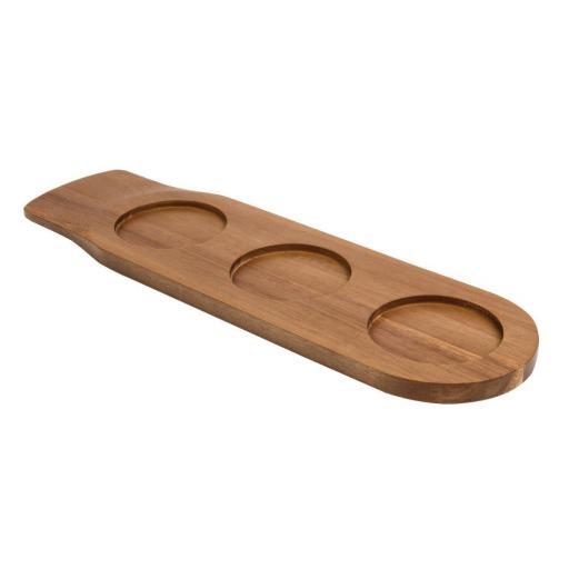 Tabla de madera de acacia con doble uso Olympia GF208