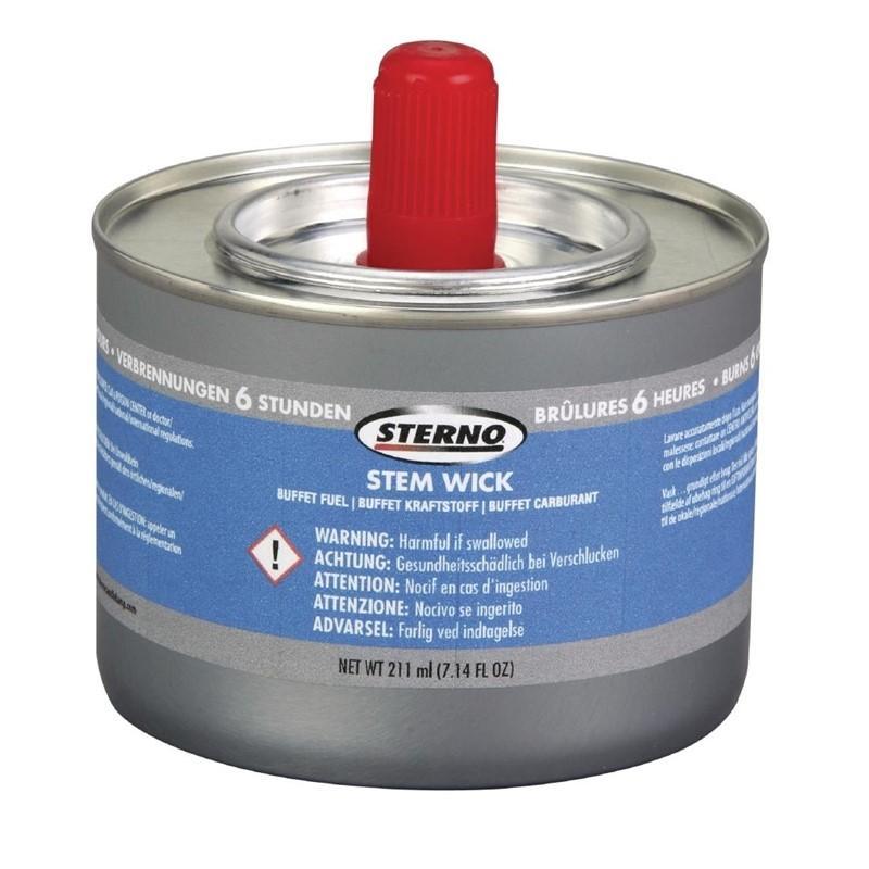 Caja de 12 latas de combustible para chafing dish Sterno Superwick 6 horas GF438