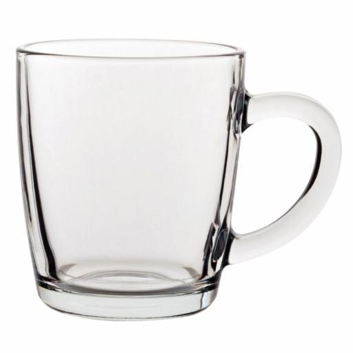 Juego de 24 tazas de cristal tipo Mug 340ml Utopia GF461