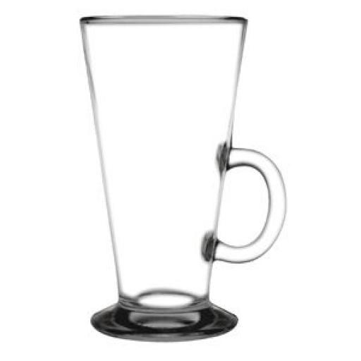 Juego de 12 tazas de vidrio endurecido para cafe latte 285ml. Olympia GF929